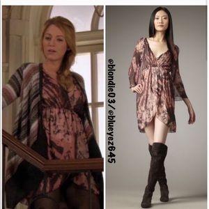 "Alice + Olivia ""Conry"" silk bell sleeve dress XS"